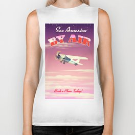 See America By Air Sunset Edition Biker Tank
