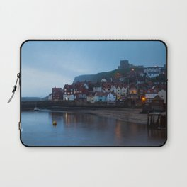 Whitby harbour at dusk Laptop Sleeve