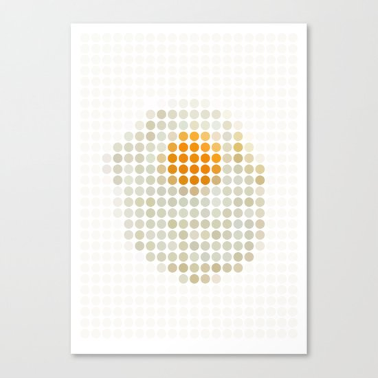 and egg. Canvas Print
