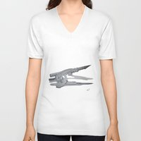 compass V-neck T-shirts featuring Compass by Mf99k
