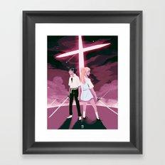 YOU CAN (NOT) ADVANCE Framed Art Print