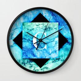 C - Monogram Vivids Wall Clock