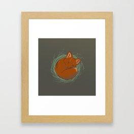 Little Fox - Cute Animals Framed Art Print