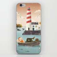 lighthouse iPhone & iPod Skins featuring Lighthouse by Seaside Spirit