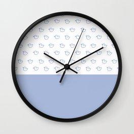 Ducklings light blue Wall Clock