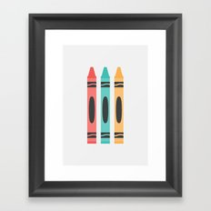 #94 Crayon Framed Art Print