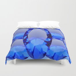 SEPTEMBER BLUE SAPPHIRE GEMS BIRTHSTONES Duvet Cover