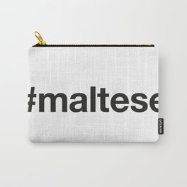 MALTESE Hashtag Carry-All Pouch