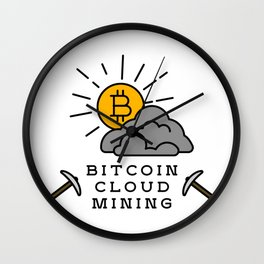 Bitcoin Cloud Mining Wall Clock