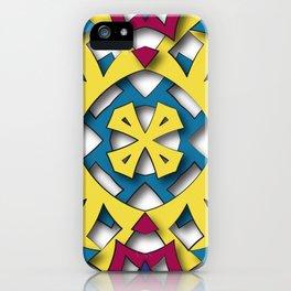 abstract aztec sun iPhone Case