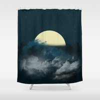 night sky Shower Curtains featuring Night Sky by Katherine GM
