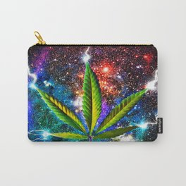 Weed Leaf in Space Carry-All Pouch