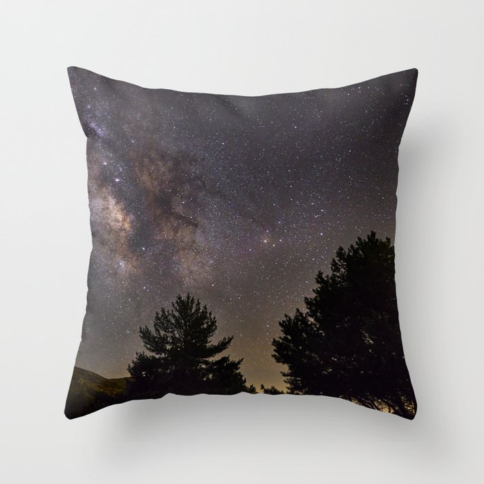 Milkyway at the mountains. Saggitarius Antares and Rho Ophiuchus Throw Pillow