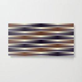 Black Brown and Tan Weave Pattern Metal Print