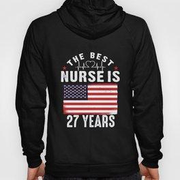 27 Birthday Present Nurse 27 Years Nursing Gift Hoody