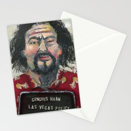 Genghis Khan's Vegas Arrest Stationery Cards