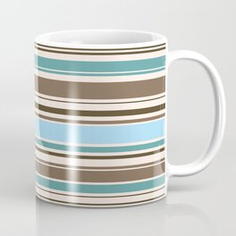 Perfect Line Collection - Browns & Blues Coffee Mug