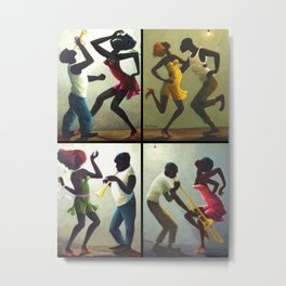 African American Masterpiece 'Jubilee Day - Juneteenth' collage painting by O. Bulman Metal Print