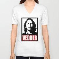 eddie vedder V-neck T-shirts featuring Eddie Vedder by Darkside-Shirts