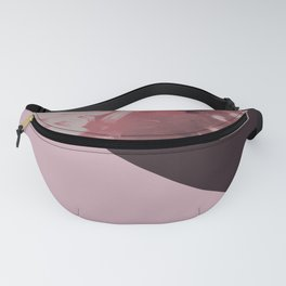 Pink mums geometrical collage Fanny Pack