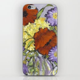 Lavender Flowers on Yellow iPhone Skin