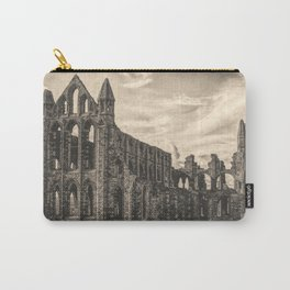 Whitby Abbey Sepia Carry-All Pouch
