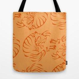 Orange Tigers Tote Bag