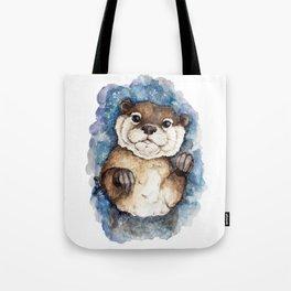 Watercolor Otter Tote Bag