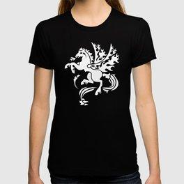Fiery Pegasus - white T-shirt
