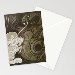 St George and the Dragon Stationery Cards
