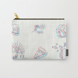 3D Illustrations - 3D Print - Three Dimensional Illustration - Colored Pencil 3D Art Carry-All Pouch