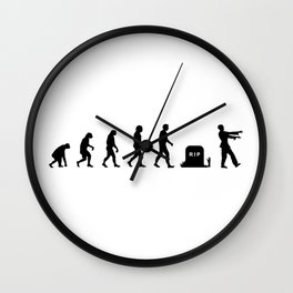 Evolution of zombies Wall Clock