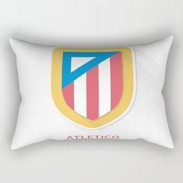 Atletico Madrid Smooth Logo Rectangular Pillow
