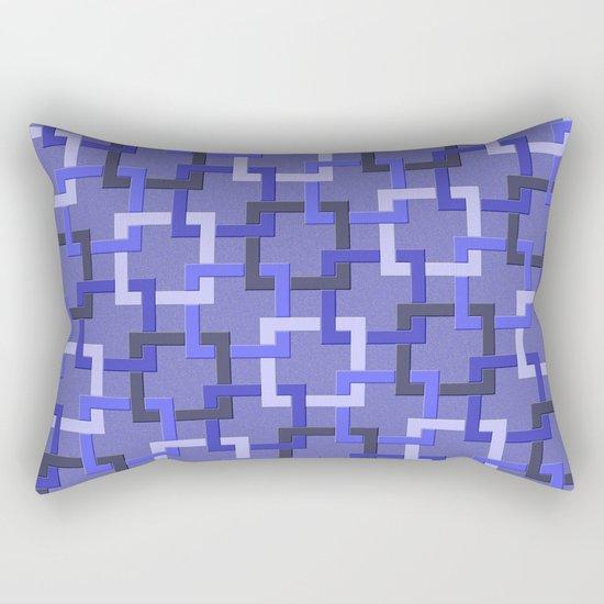 Linked Squares Rectangular Pillow