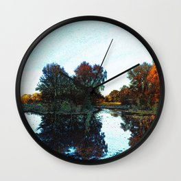 River Reflections in Chalk Wall Clock