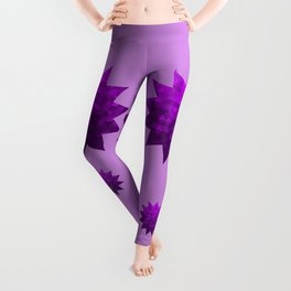 Kwan Yin's Star   Purple Flame   Compassion Leggings