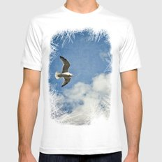 Seagull Mens Fitted Tee White MEDIUM