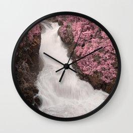 Pink Fantasy Falls Wall Clock
