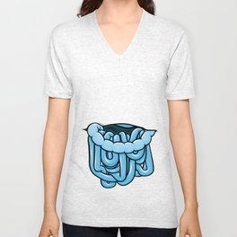 viscera : blue razz Unisex V-Neck