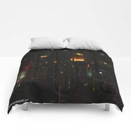 Chicago Skyline Light Show (Chicago Architecture Collection) Comforters