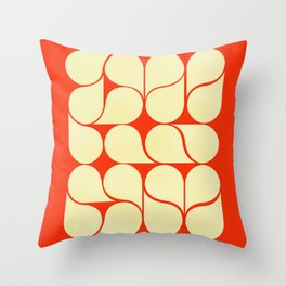 Mid-century abstract with red-no9 Throw Pillow