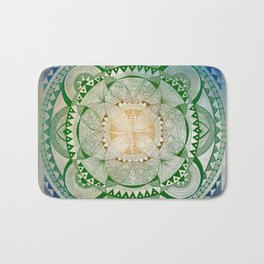 Metta Mandala, Loving Kindness Meditation Bath Mat