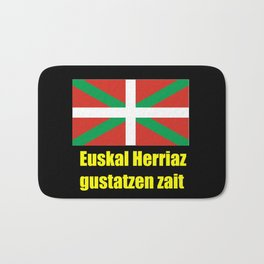 Flag of Euskal Herria 5 -Basque,Pays basque,Vasconia,pais vasco,Bayonne,Dax,Navarre,Bilbao,Pelote,sp Bath Mat
