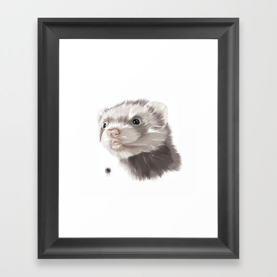 Ferret Framed Art Print