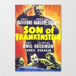 Son of Frankenstein, vintage horror movie poster Canvas Print