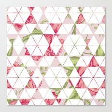 Flora Quilt Canvas Print