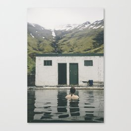 One of the oldest swimming pools in Iceland Canvas Print