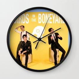 Birds in the Boneyard: Album Cover Wall Clock