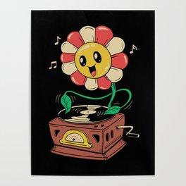Vinyl Flower Poster