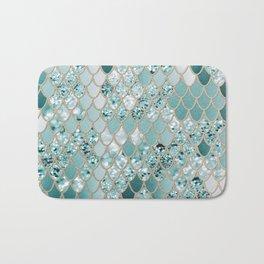 Mermaid Glitter Scales #3 #shiny #decor #art #society6 Bath Mat